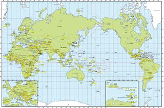世界地図の経線