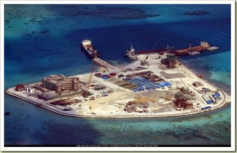 南沙諸島における中国の埋め立て