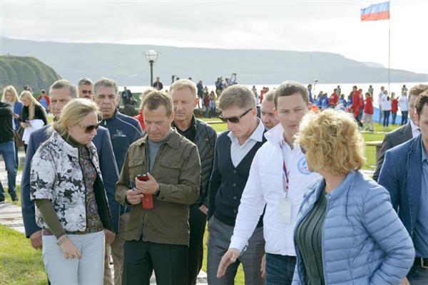 2015年に訪問したメドベージェフ首相