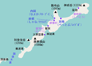 択捉島の地図