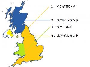 イギリス連合王国の位置関係