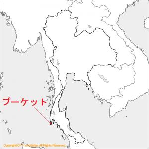 タイのプーケットの地図